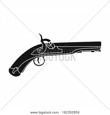 Pistol icon in black style isolated on white background. England country symbol vector illustration.