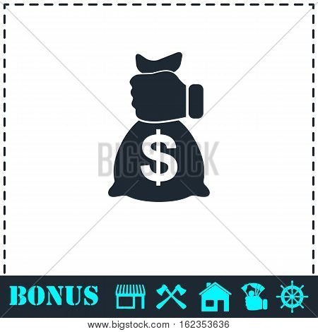 Robbery icon flat. Simple vector symbol and bonus icon