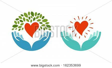 Love, ecology, environment icon. Health, medicine or oncology symbol isolated on white background