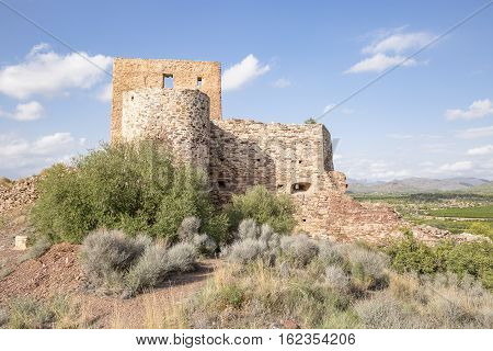 ancient castle in Torres Torres town, Province of Valencia, Spain