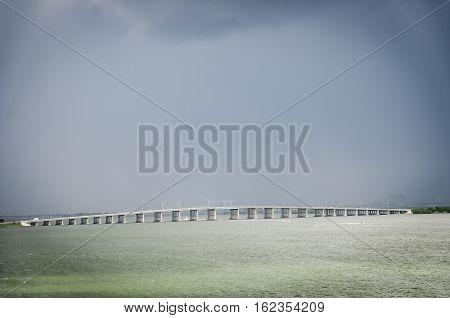 The Julia Tuttle Causeway In Miami Florida