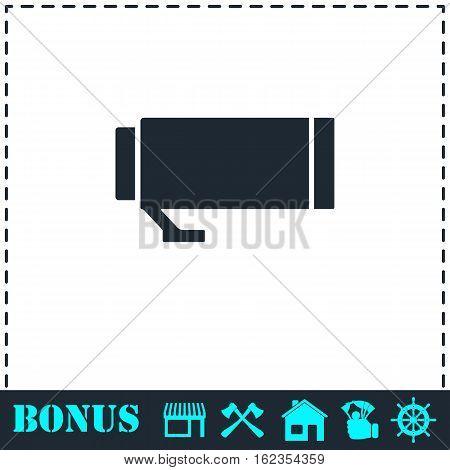 Lens icon flat. Simple vector symbol and bonus icon