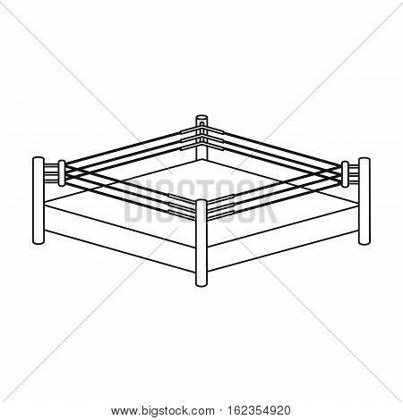 Boxing ring icon in outline style isolated on white background. Boxing symbol vector illustration.