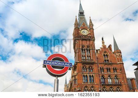 Street view of London underground in London, England, United Kingdom