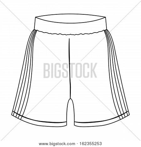 Boxing shorts icon in outline style isolated on white background. Boxing symbol vector illustration.
