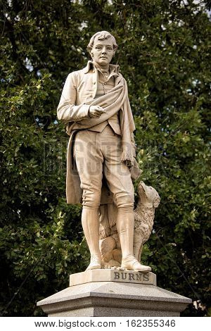 Statue Of Scottish Poet Robert Burns