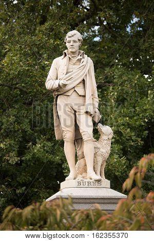 Statue Of Scottish Poet Robert Burns