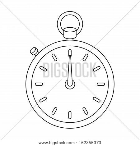 Boxing stopwatch icon in outline style isolated on white background. Boxing symbol vector illustration.