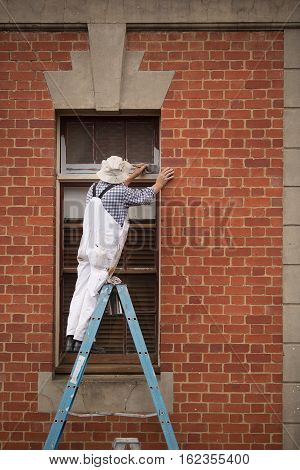 Tradesman On A Ladder