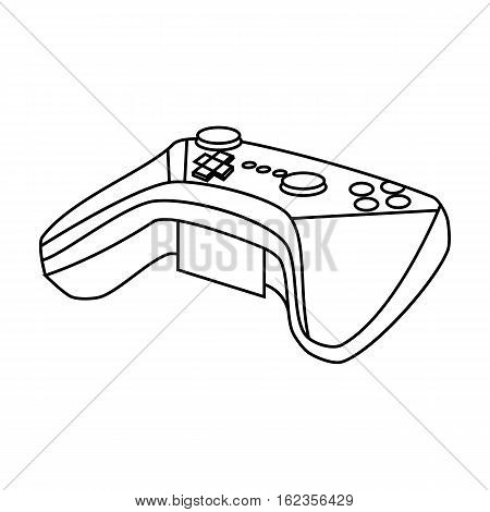 Game controller for the virtual reality icon in outline style isolated on white background. Virtual reality symbol vector illustration.