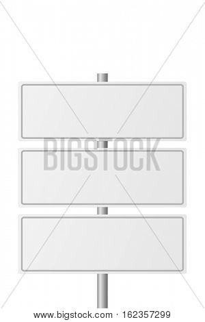 Blank highway signs on a white background