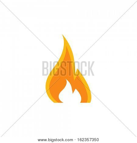 Fire icon illustration on a white background
