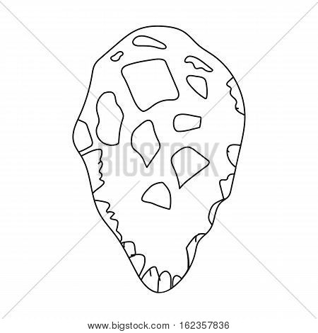 Stone tool icon in outline style isolated on white background. Stone age symbol vector illustration.