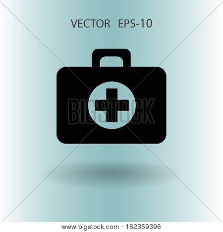 Flat icon of ambulanse. vector illustration