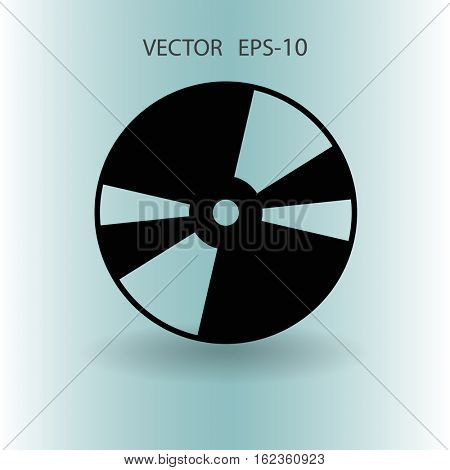 Flat  icon of DVD disc. vector illustration