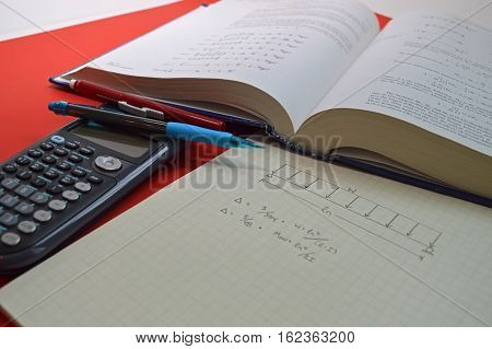A textbook graph paper and calculator for engineering calculations