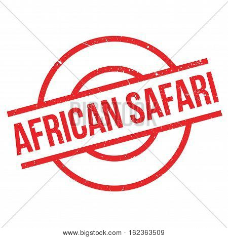African Safari rubber stamp. Grunge design with dust scratches. Effects can be easily removed for a clean, crisp look. Color is easily changed.