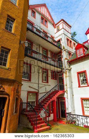Historic Buildings In Edinburgh, Scotland, Uk