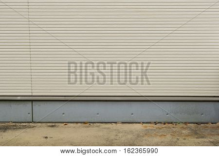 Cement outdoor wall as background with floor