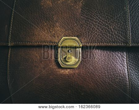 The Background Image of bag leather Vintage Style
