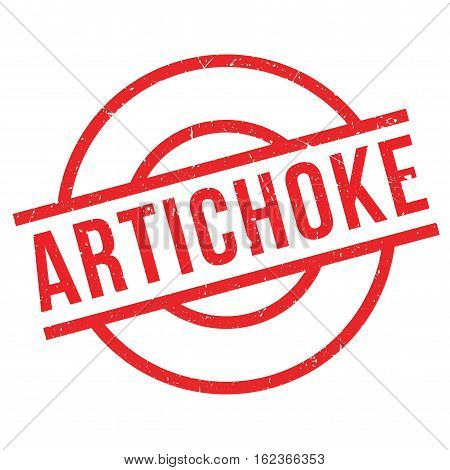 Artichoke rubber stamp. Grunge design with dust scratches. Effects can be easily removed for a clean, crisp look. Color is easily changed.