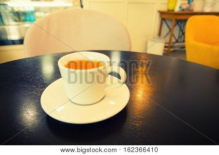 Coffee cup on the table Cuppuccino hot coffee.