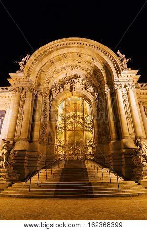 Entrance Of The Petit Palais In Paris