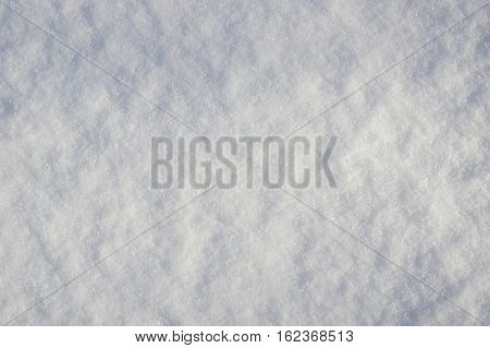 High angle view of snow texture. Winter background
