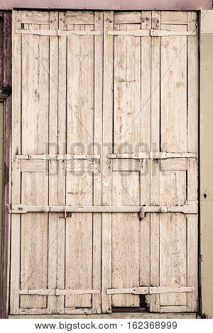Picture Of An Old Wooden Door