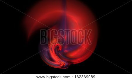 Red fire inferno wheel abstract background 3D