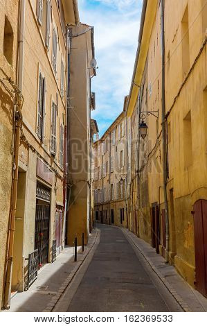 Picturesque Alley In Aix-en-provence, France