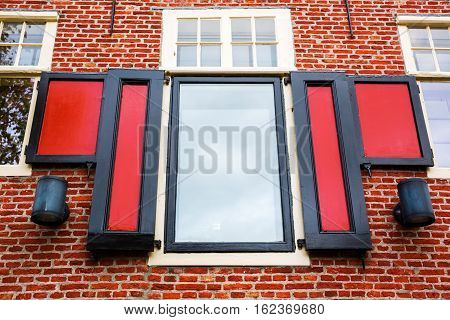 picture of the window of a historic building in Hoorn Netherlands