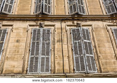 Typical Shuttered Windows In Aix-en-provence