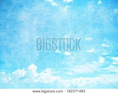 Grunge blue sky background with space for text