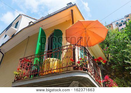 Mediterranean Style House In An Italian Town