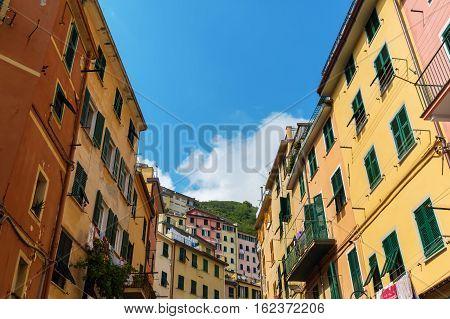 Famous Village Riomaggiore, Cinque Terre, Italy