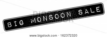 Big Monsoon Sale rubber stamp. Grunge design with dust scratches. Effects can be easily removed for a clean, crisp look. Color is easily changed.