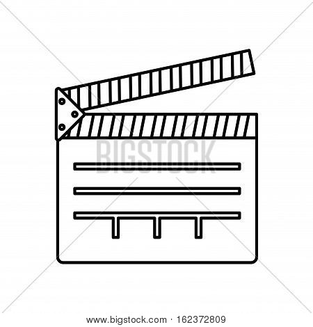 cinema clapboard equipment icon vector illustration graphic design