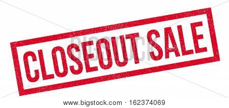 Closeout Sale rubber stamp. Grunge design with dust scratches. Effects can be easily removed for a clean, crisp look. Color is easily changed.
