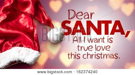 Dear Santa, All I Want is True Love This Christmas