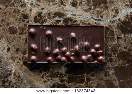 chocolate bar with nuts