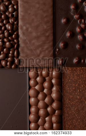 texture of various chocolate