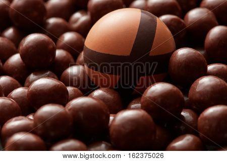 broken chocolate candies