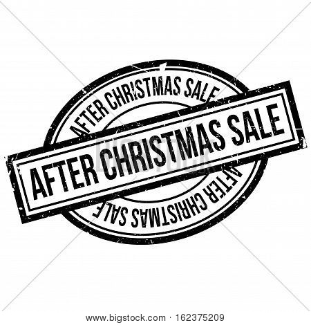 After Christmas Sale rubber stamp. Grunge design with dust scratches. Effects can be easily removed for a clean, crisp look. Color is easily changed.