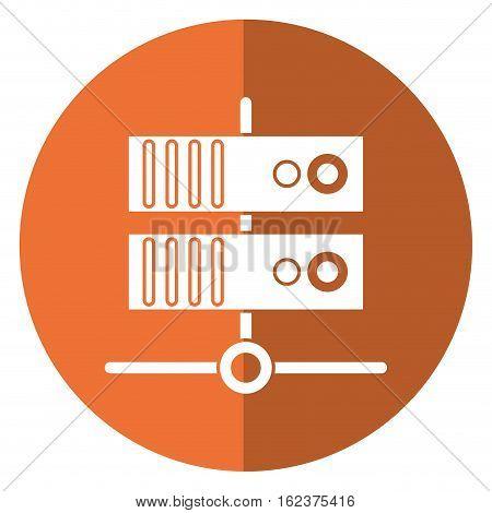 data base technology server system shadow vector illustration eps 10