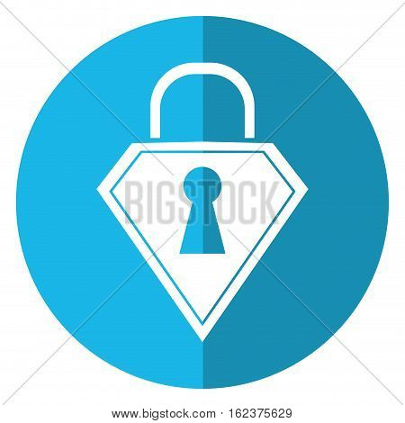lock shield protection security technology shadow blue circle vector illustration eps 10