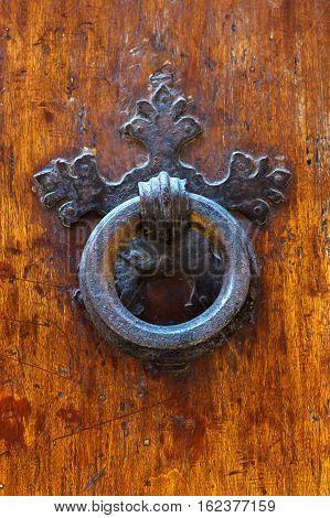 Old Doorknocker At A Tuscan Door