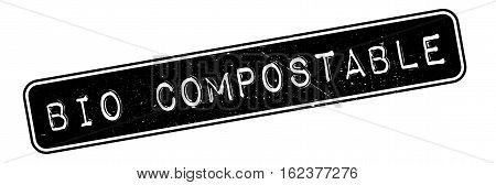 Bio Compostable rubber stamp. Grunge design with dust scratches. Effects can be easily removed for a clean, crisp look. Color is easily changed.
