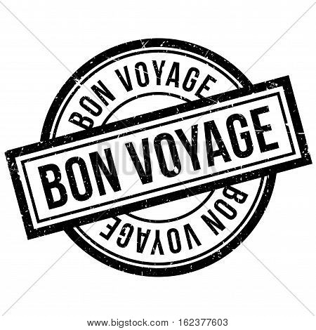 Bon Voyage rubber stamp. Grunge design with dust scratches. Effects can be easily removed for a clean, crisp look. Color is easily changed.