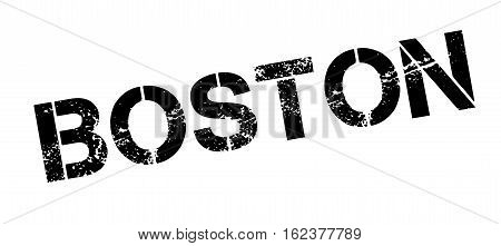 Boston rubber stamp. Grunge design with dust scratches. Effects can be easily removed for a clean, crisp look. Color is easily changed.